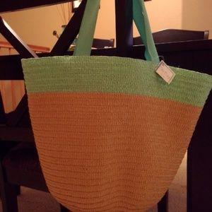 Handbags - * 3 for 15- NWT straw bucket bag